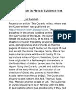 Origin of Islam in Mecca