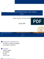 Computational Mathematics with Python (Lecture Notes)