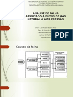 Analise de Falha Associado a Dutos de Gas Natural a Alta Pressao