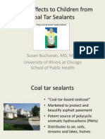 Health Effects to Children from Coal Tar Sealants