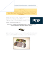 12. Procedimiento de Reparación Para Solucionar Inconvenientes de Carga en Un Teléfono Celular