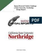 ASME HPV 2011 Report_California State University Northridge