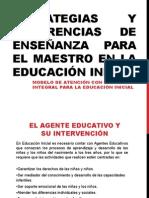 Estrategias y sugerencias de Enseñanza para el maestro de Educación Inicial