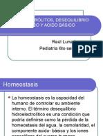 Agua y Electrólitos, Desequilibrio Hidrico, Iónico