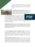 Clasificacion de contaminacion y clases