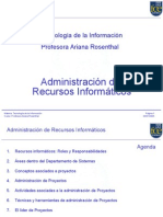 Administracion  de Informaticos y recursos