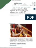 ¿Quiénes Son Los 100 Líderes Espirituales Más Influyentes en 2015_ « Pijamasurf