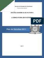 Plan de Estudios 2011-Historia-UAZ