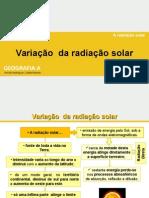 Variação da radiação solar - Gina 14-15