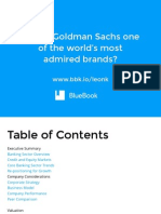Why Is Goldman Sachs One Of The World's Most Admired Banks?