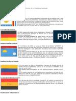 Evolución Histórica de La Bandera Nacional