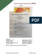 Aboriginal Solar Summit 2015 Report