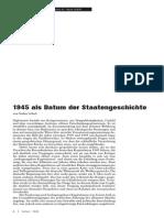 Scheil 1945 Als Datum Der Staatengeschichte
