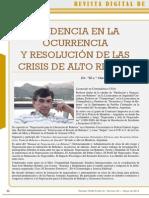 Tendencia en la ocurrencia y resolución de las crisis de alto riesgo