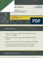 DeLuca Presentation College Readiness 2015