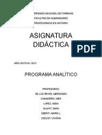 Analitico de Didáctica