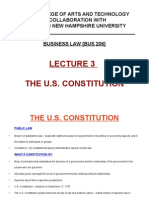 Lecture 3 – the U.S. Constitution