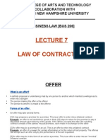 Lecture 7 - Law of Contracts [2]
