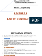 Lecture 9 - Law of Contracts [3]