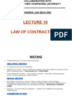 Lecture 10 - Law of Contracts [3A]
