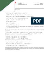 Listas de exercícios - Equações Diferenciais Ordinárias