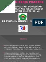 Otomatisasi Pengelasan Menggunakan Arc Welding Robot Otc Daihen Almega Ax - V6