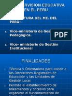 La Supervisión Educativa en El Perú