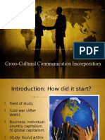 Presentation for Cross Cultiural Comunication
