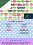 Hadith Nabawi, Hadith Qudsi Dan Al-Quran
