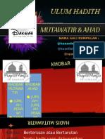 Hadis Mutawatir Dan Ahad (1)