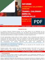 HISTORIA DE LA CARRETERA CALEMAR - ABRA EL NARANJILLO