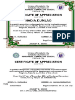Certificate for Parents Day