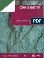 Cómo Se Investiga