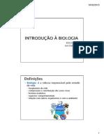1 Introdução à Biologia