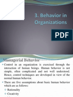 3. Behavior in Organization