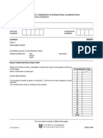 Science Specimen Paper 1 2012