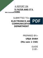A Reprt on Adaptive Filtering