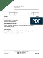 English Specimen Paper 1 2014