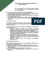 Criterios Generales Para La Selección de Maquinarias y Equipos Mineros