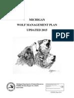 DNR Wolf Plan 2015 Update