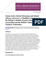 SLR - Union-Active School Librarians and School Library Advocacy