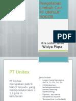 pengolahan limbah PT Unitex Bogor