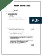 Bengkel Math Tambahan Radient