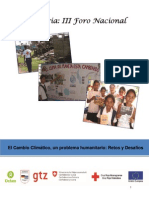 Memoria III Foro Cambio Climático Nicaragua - 5 diciembre del 2008
