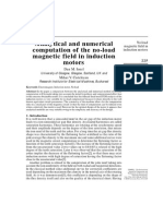 Analytical and numerical computation of the no-load magnetic field in induction motors