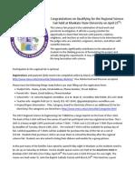 regional science fair letter