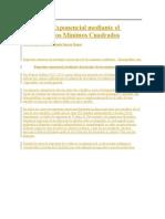 Regresión Exponencial mediante el Método de los Mínimos Cuadrados