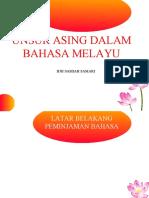 Unsur Asing Dalam Bahasa Melayu