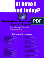 20401391 Formative Assessment in Social Studies