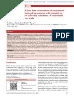 Analgesic Activity of Pct-diclofenac vs Pct-trama